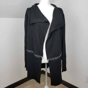 The Limited Open Duster Sweater Black Shawl XL